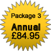 Package 3 - £84.95 Annual Subscription